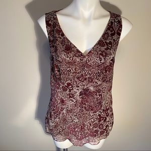 Ann Taylor Factory Maroon Tank Top